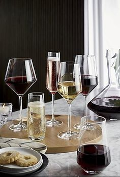 Tour Red Wine Glass - Crate and Barrel Crate And Barrel, Large Wine Glass, Wine Glass Holder, Box Wine, Wine Carafe, Stemless Wine Glasses, Red Wine Glasses, Crystal Wine Glasses, Crystal Glassware