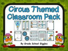 Circus Themed Editable Classroom Pack: Over 140 pages and includes a ton of resources to help you decorate and organize your classroom in a fun circus theme. ($Priced )