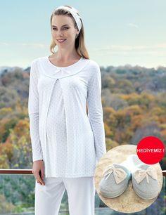 Şahinler Maternity Nursing Dress, Maternity Dresses, Womens Pyjama Sets, Pajamas Women, Pyjamas, Pajama Set, Tunic Tops, Pullover, Blouse