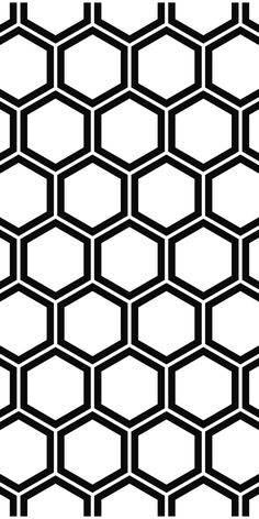 Repeat and black white hexagon pattern background #vector