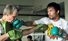 Freddie Roach with Pacquiao Training
