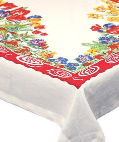 Look at this Tulip Square Tablecloth on #zulily today!