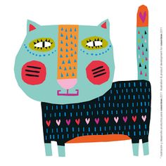 Happy Patterned cat! Michelle Koryzma