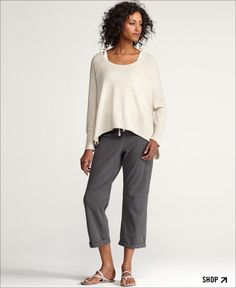 Love Eileen Fisher's easy, chic style.