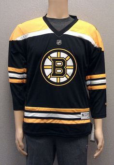 Just $29.99 !! Boston Bruins Reebok YOUTH Replica Jersey NEW/NWT Home Black Asst Szs $70R NHL #Reebok #BostonBruins
