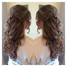 Half up half down prom hair ❤ liked on Polyvore featuring accessories, hair accessories and prom hair accessories