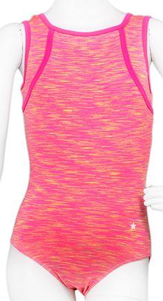 Coral Space Squareneck Leotard #leotard #leotards #gymnast #gymnastics #performancewear #workout