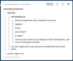 How to find the vegan.. sorry bout the language but this was too funny not to pin!