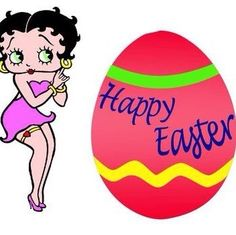 Betty Boop Easter by Karen Betty Boop Cartoon, Christian World, Betty Boop Pictures, Favorite Cartoon Character, Easter Traditions, Happy Spring, Pin Up Art, Happy Easter, Anime