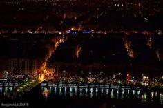 #Lyon #ville dans la #nuit #city by #night #beautiful #magnifique #landscape #streetphotography #bridge #lights #water #mirror #lumières #canon📷 #5dmk2 #StraigtOfLR #adobe #lightroom