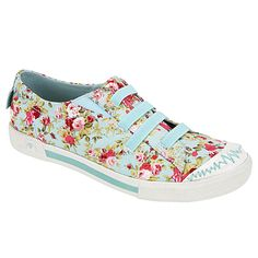 Comfortable shoes are made pretty with floral print!  TRIPPY by ROCK & CANDY
