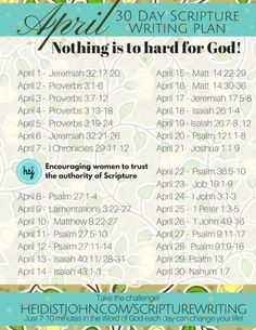... Monthly Scripture Writing on Pinterest | Scriptures, Writing and