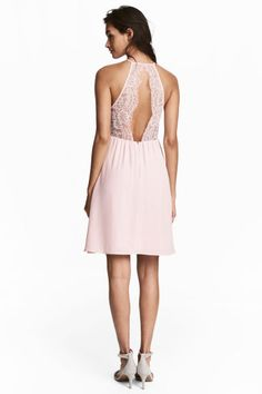 Vestido com detalhes em renda - Rosa claro - SENHORA | H&M PT 1