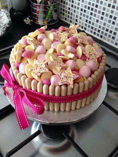 White chocolate sweet cake