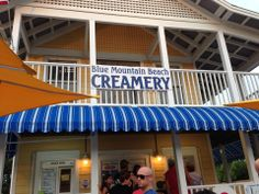 The best way to cool off after a day at the beach? A scoop of the Flavor of the Day from the Blue Mountain Creamery, just steps from the Blue Mountain Beach beach access. This family-owned establishment has the friendliest staff and the BEST ice cream!