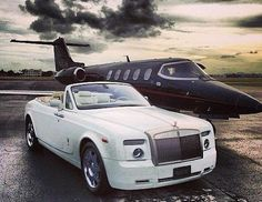 Private Jet and a Rolls-Royce!