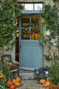 Front Door Paint Colors - Want a quick makeover? Paint your front door a different color. Here a pretty front door color ideas to improve your home's curb appeal and add more style! Entrance, Country Cottage, Beautiful Doors, Dutch Door, House Exterior, Enchanted Home, Cottage Door, Windows And Doors, Cottage Front Doors