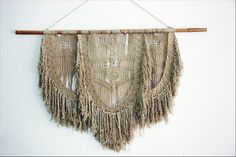Hand knotted cotton macrame wall hanging