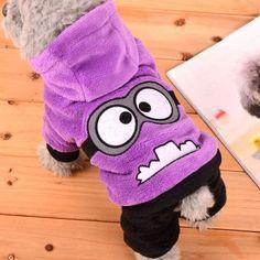 Dog Fleece Minions Hoodie Jacket