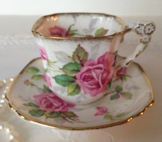 Vintage Royal Stafford Tea Cup & Saucer by TheEclecticAvenue