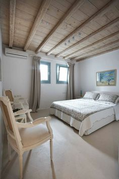 On the world renown island of Mykonos, overlooking stunning Panormos Bay, these eleven villas are a short walk from beautiful Panormos Beach and have Panormos Beach, Mykonos, Beach House, Villas, Rustic, Sea, Bedroom, Karpathos, Holidays