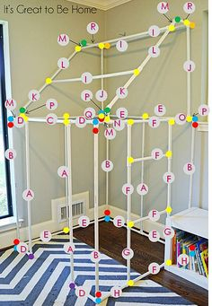 pvc pipe fort diagram by It's Great To Be Home, via Flickr