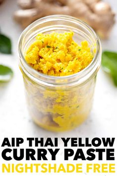 Looking for an anti-inflammatory powerhouse recipe? Try this AIP Thai Curry Paste. It's a wonderful base to so many dishes. It's also nightshade free. Turmeric Soup, Fresh Turmeric, Paleo Sauces, Paleo Recipes, Free Recipes, Protein Recipes, Health Recipes, Thai Yellow Curry Paste, Curry Soup