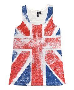 White Great Britain Flag Vest from Chicnova