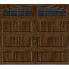 x 7 ft. R-Value Insulated Ultra-Grain Walnut Garage Door with Arch - The Home Depot - Clopay Gallery Collection 8 ft. x 7 ft. R-Value Insulated Ultra-Grain Walnut Garage Door with Arch – The Home Depot Brown Garage Door, White Garage Doors, Garage Door Colors, Garage Door Sizes, Custom Garage Doors, Garage Door Decor, Wood Garage Doors, Garage Door Makeover, Garage Door Design