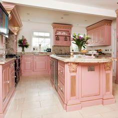Georgian-style kitchen | Glamorous kitchen | Kitchen design | PHOTO GALLERY | Housetohome.co.uk