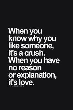 Crush and love