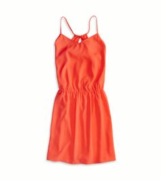 Coral Burst AE Cinched Waist Racerback Dress