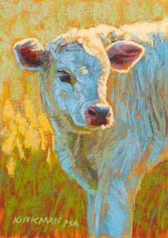 "Animal Art~ ""Skye"" - Original Fine Art for Sale - © Rita Kirkman Farm Paintings, Animal Paintings, Art And Illustration, Cow Painting, Dragonfly Art, Farm Art, Cow Art, Colorful Paintings, Pastel Art"