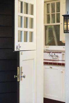 Arts & Crafts kitchen with a Dutch door - new front door PLEASE!!