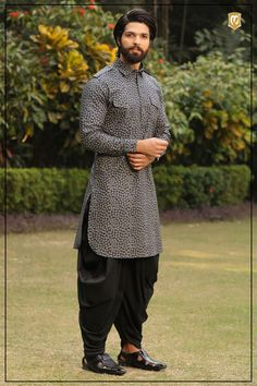 Shapely Printed Blue Kurta is part of Mens kurta designs - Shapely Printed Blue Kurta Asian Men Fashion, Men Fashion Show, Mens Fashion Suits, Wedding Kurta For Men, Wedding Dresses Men Indian, Wedding Wear, Gents Kurta Design, Boys Kurta Design, Kurta Pajama Men