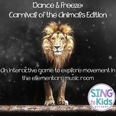 Dance Freeze: Carnival of the Animals. by SingToKids Preschool Music Activities, Animal Activities, Listening Activities, Freeze Dance, Carnival Of The Animals, Animal Movement, Dancing Animals, Music Classroom, Classroom Libraries