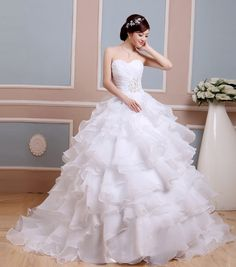 Cheap shiny wedding dress, Buy Quality wedding dress directly from China wedding dress beach Suppliers: Free A-Line Tiered Sweetheart ruffle silver vintage shiny Wedding Dress beach summer debutante ball dresses sizes invitations Ball Dresses, Ball Gowns, Formal Dresses, Wedding Dresses, The Bride, Blond, Bridal Gowns, Corset, Ruffles