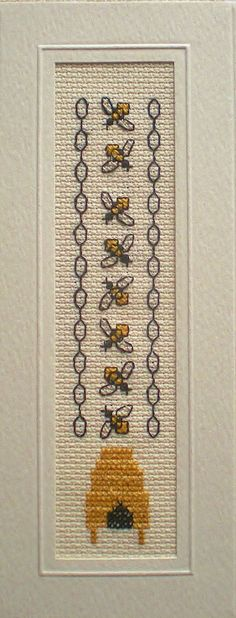 Fab Bee themed bookmark kit. You will be stitching on 16 count aida with whole stitches and back stitches. Set in a bookmark mount with an rectangular aperture and trimmed with Gold ribbon. This is a lovely bookmark that would make a great gift. Kit contains everything needed to stitch and complete your bookmark kit: DMC Aida Pre Sorted Anchor Threads Pre Taped Bookmark Mount Gold Plated Needle Ribbon Trim Colour Chart and Full Instructions. If you require any help or cant quite find w...
