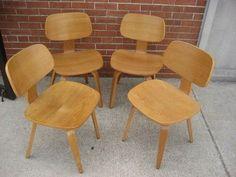 Thonet Bent Oak Plywood Chairs. Stunning Danish Design. Great Shape