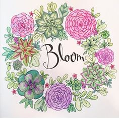 Artist Pens, Colouring Techniques, Coloring Book Pages, Colorful Pictures, Adult Coloring, Color Inspiration, Flower Art, Bloom, Drawings