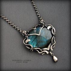 Fata Morgana by KL-WireDream on DeviantArt Jewelry Crafts, Jewelry Art, Jewelry Accessories, Handmade Jewelry, Jewelry Design, Jewellery, Handmade Silver, Stone Jewelry, Metal Jewelry