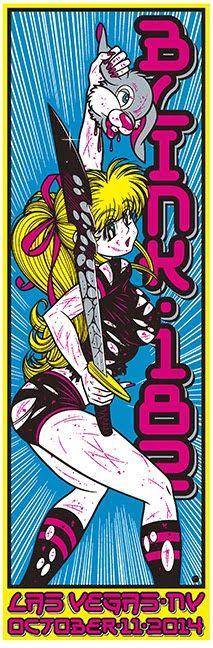 Blink-182 Las Vegas Poster by Artist Sean Cliver