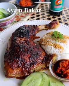 To Food with Love: Ayam Bakar (Indonesian Grilled Chicken)You can find indonesian food and more on our website.To Food with Love: Ayam Bakar (Indonesian Grilled Chicken) Greek Recipes, Asian Recipes, Mexican Food Recipes, Thai Recipes, Korean Fried Chicken, Grilled Chicken, Grilled Fish, Marinated Chicken, Easy Cooking