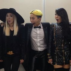G-Dragon-G-Dragon with labelmates Dara, CL from 2NE1