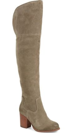 An alluring over-the-knee profile defines this standout block-heel boot shaped from rich, subtly textured suede.