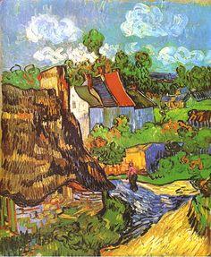Gogh, Vincent van (Dutch, 1853-1890) - Houses in Auvers - 1890 --- `1889