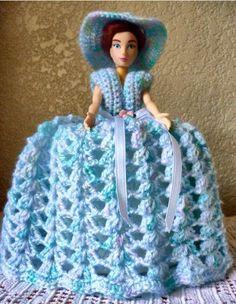 Beautiful Handmade Crochet Doll Toilet Paper Holder By