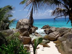 Anse Patatran Beach La Digue Seychelles - this island has the most beautiful rock formations & beaches I've been to on this planet.  Other planets....