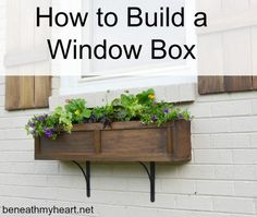 Simonton Windows & Doors has collected our favorite DIY window boxes, so you can add awesome curb appeal to your home. Get your window box how-to here. Cedar Window Boxes, Window Planter Boxes, Window Box Diy, Window Box Brackets, Unique Garden, Window Box Flowers, Diy Flowers, Diy Flower Boxes, Cool Ideas