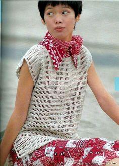 Simple crochet top: pattern & chart